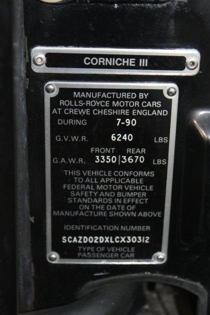 Used-1990-Rolls-Royce-CORNICHE-III